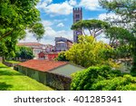 old italian town of lucca. view ...   Shutterstock . vector #401285341