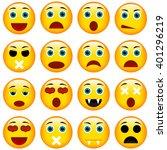 set of emoticons. set of emoji. ... | Shutterstock .eps vector #401296219