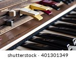 vintage electronic organ from... | Shutterstock . vector #401301349