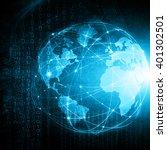 best internet concept of global ... | Shutterstock . vector #401302501