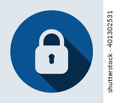 lock icon isolated vector flat... | Shutterstock .eps vector #401302531