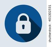 lock icon isolated vector flat...