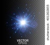 glow light effect. star burst... | Shutterstock .eps vector #401302855
