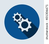 gear icon isolated vector flat... | Shutterstock .eps vector #401306671