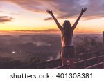 silhouette of the woman... | Shutterstock . vector #401308381