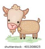cartoon goat   Shutterstock .eps vector #401308825