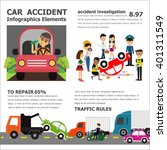 car accident infographic... | Shutterstock .eps vector #401311549
