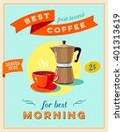 best coffee   vintage... | Shutterstock .eps vector #401313619