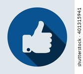 thumb up icon  | Shutterstock .eps vector #401315941