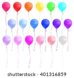 set of colorful balloons... | Shutterstock .eps vector #401316859