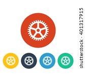 vector illustration of gear icon | Shutterstock .eps vector #401317915
