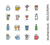 drink alcohol beverage and...   Shutterstock .eps vector #401319094