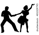 pair dance | Shutterstock .eps vector #401329795