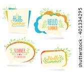 set banner  logo  sticker ... | Shutterstock .eps vector #401334295