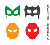 super hero masks vector... | Shutterstock .eps vector #401339905