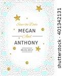 wedding invitation card. save... | Shutterstock .eps vector #401342131