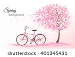 spring background with a... | Shutterstock .eps vector #401345431
