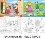 the snow queen. the frog prince.... | Shutterstock . vector #401348929