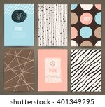 set of brochures with hand... | Shutterstock .eps vector #401349295