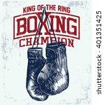 Vintage Boxing Gloves Vector...
