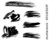 vector set of grunge brush...   Shutterstock .eps vector #401365639
