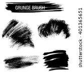 vector set of grunge brush... | Shutterstock .eps vector #401365651