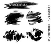 vector set of grunge brush... | Shutterstock .eps vector #401365654