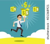employee jump to success game... | Shutterstock .eps vector #401368921