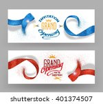 grand opening banners with... | Shutterstock .eps vector #401374507
