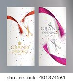 grand opening vertical banners... | Shutterstock .eps vector #401374561