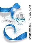 grand opening banner with... | Shutterstock .eps vector #401374645