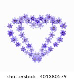 two hearts of spring flowers... | Shutterstock . vector #401380579