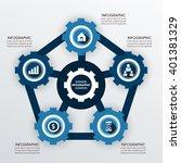 business infographics vector... | Shutterstock .eps vector #401381329