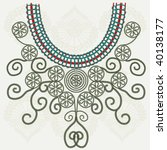 vector vintage collar | Shutterstock .eps vector #40138177
