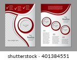 vector flyer template design.... | Shutterstock .eps vector #401384551
