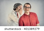 twin adult men with beards tell ... | Shutterstock . vector #401389279