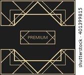 vector geometric frame in art... | Shutterstock .eps vector #401399815
