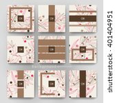 floral abstract vector brochure ... | Shutterstock .eps vector #401404951