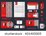 real estate corporate identity... | Shutterstock .eps vector #401405005