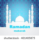 illustration of ramadan ... | Shutterstock . vector #401405875