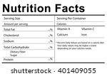 nutrition facts health medicine ... | Shutterstock . vector #401409055