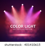 spotlight on stage for your... | Shutterstock .eps vector #401410615