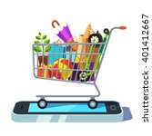 mobile retail and ecommerce... | Shutterstock .eps vector #401412667