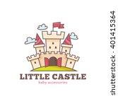 vector cute little castle logo...   Shutterstock .eps vector #401415364