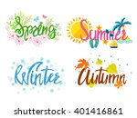 winter  spring  summer  autumn. ... | Shutterstock .eps vector #401416861