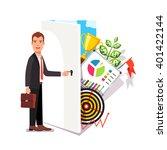 business career opportunity... | Shutterstock .eps vector #401422144