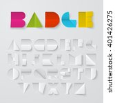 Vector Font Made Of Cutted And...