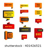 vector stickers  price tag ... | Shutterstock .eps vector #401426521