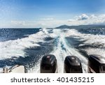 Boat Wakeon Water Surface...
