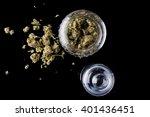medical cannabis buds in an... | Shutterstock . vector #401436451